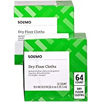 64-count (2 x 32-count Boxes) Amazon Brand Solimo Dry Floor Cloths