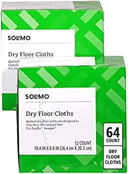 64-Count Amazon Brand Solimo Dry Floor Cloths
