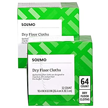 Amazon Brand - Solimo Dry Floor Cloths,32 Count  Pack of 2