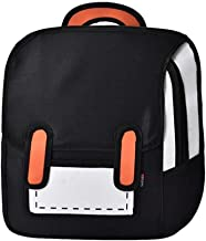 3D Jump Style 2D Drawing From Cartoon Paper Shoulder Bag Comic Backpack Bookbag