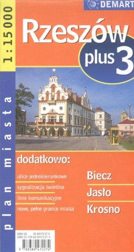 Rzeszów +3. Plan miasta w skali 1:15 000