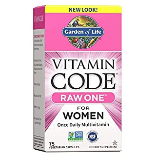 Garden of Life Vitamin Code Raw One for Women, Once Daily Multivitamin for Women - 75 Capsules, One a Day Women, Vitamins, Fruits, Veggies, Probiotics for Womens Health, Vegetarian, Gluten Free (B0039LF4Y4) | Amazon price tracker / tracking, Amazon price history charts, Amazon price watches, Amazon price drop alerts