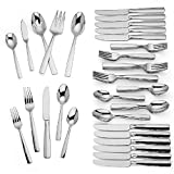Lenox Lachlan 65-Piece Flatware Set, 10.45 LB, Metallic