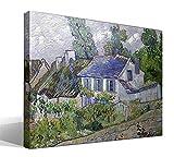 Cuadro Canvas Casas en Auvers de Vincent Willem Van Gogh