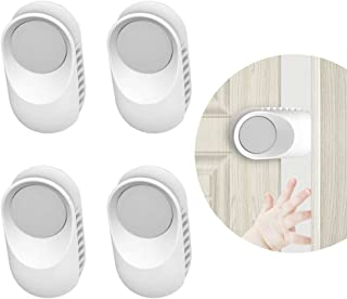 Door Finger Pinch Guard - 4 Pack. Baby Proofing with Soft TPE Rotatable Door Stopper. Prevents Finger Pinch Injuries, Slam...