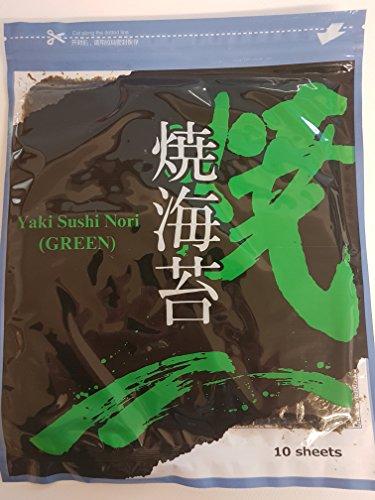 Noriblätter 27g Nori Blätter für Sushi 10 Stück Seetangblätter, Algenblätter Yaki Sushi Nori, getrockneter gerösteter Seetang