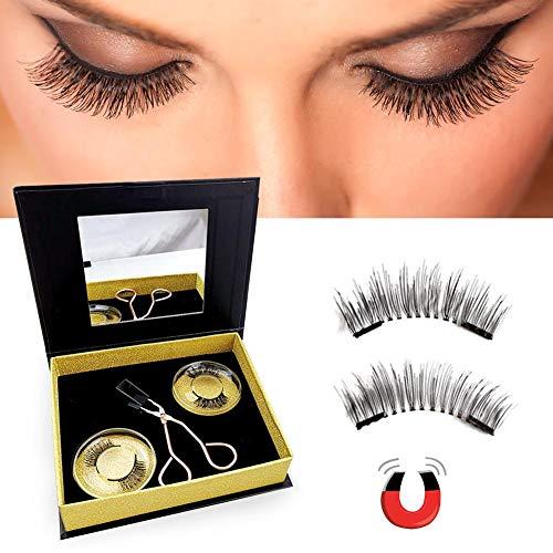 Adminitto88 Cils De Vison 3D Réutilisables Faux Cils, Maquillage des Cils Noir Naturel Long Pur Fait Main, 3D Faux Cils Denses Cils Doux Normal Multicouche Stéréoscopique Normal