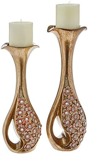 SINTECHNO SK-4252C Sakura Candleholder (Set of 2), 14 x 16