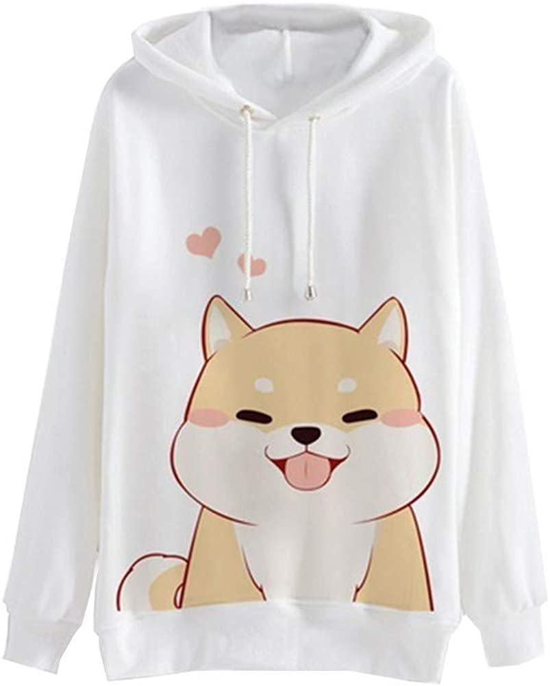 Meikosks Women's Casual Long Sleeve Sweatshirt Cute Graphic Print Hoodies Jumper Pullover Tops