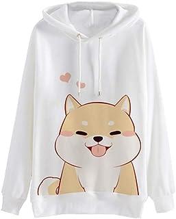 Moda para Mujer Casual Animal Print Sudadera con Capucha de Manga Larga Jersey con Capucha Blusa de impresión