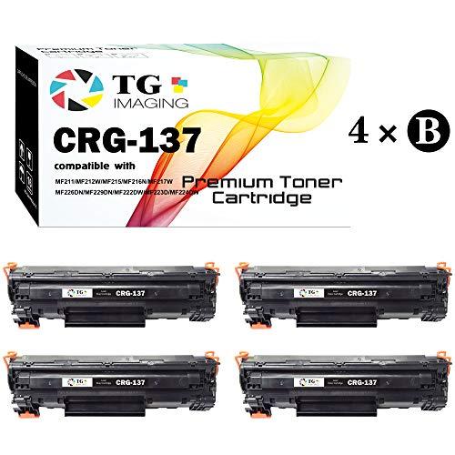 (4 Black Set) Compatible CRG-137 137 Toner Cartridge 9435B001AA for Canon MF247dw LBP151dw MF212w MF216n MF217w MF227dw MF229dw MF232w MF236n MF244dw MF249dw Printers, Sold by TG Imaging