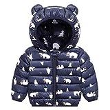 Niños Traje de Invierno, Chaqueta con Capucha Unisexo Abrigo de Ligero Impermeable Ropa para Bebé 9-12 Meses