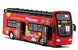 YIJIAOYUN Recorrido turístico Doble autobús Rojo de Juguete Juguete...