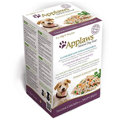 Applaws, Bolsa de pechuga de pollo con verduras en un caldo de ginseng 5 x 100 g, pack de 4