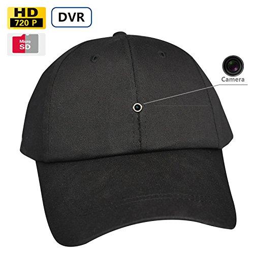 8GB 1280x 720p HD cámara espía Béisbol Gorro de exterior Sport sombrero portátil Acción espía DVR videocámara de audio con grabación de vídeo