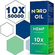 NORD Oil 10X Powerful High Strength Hemp Premium Oil 50000MG - 60ML, Hemp Natural Oil for Anxiety & Stress Relief, Vegan Friendly
