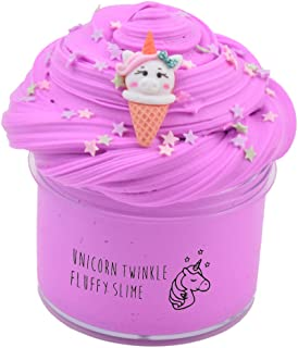 Magictoy Pink Purple Twinkle Unicorn Butter Slime, Fluffy Slime Stress Relief Toy Scented Sludge Toy for Kids Party Favors 7OZ
