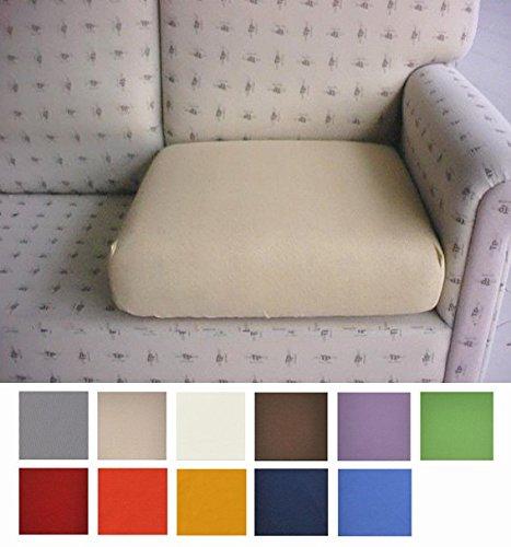 Casatessile Tela Antimanchas: un par de Fundas para Cojines de sillón y sofá Que se Pueden Extender de 50 a 75 cm - Marrone