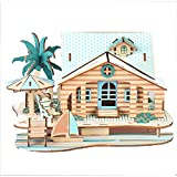 Koralan 3D Wooden Puzzle DIY Handmade Child Adult Assembly Wooden Puzzle Toy Gift Girl and Boy Age 8+ (Paris Holiday House)
