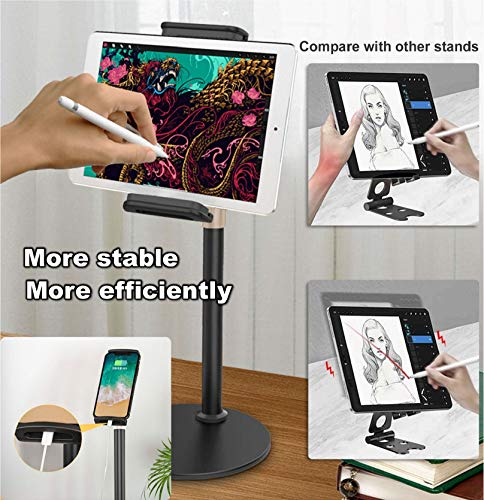 ZenCT Desktop Tablet Stand, Adjustable Height Metal Stand Holder for New 2020 iPad Pro 12.9, iPad Air Mini 2 3 4, Switch, Samsung Tab and iPhone