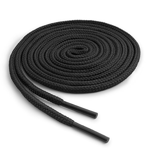 OrthoStep Round Athletic Black 54 inch Shoelaces 2 Pair Pack