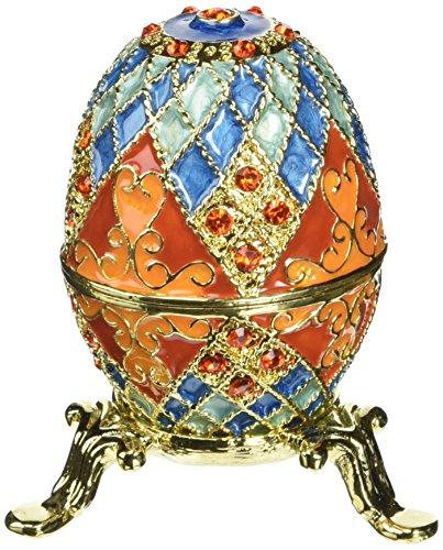 Design Toscano FH2030 Œuf de Romanov émaillé Multicolore 4 x 4 x 6,5 cm