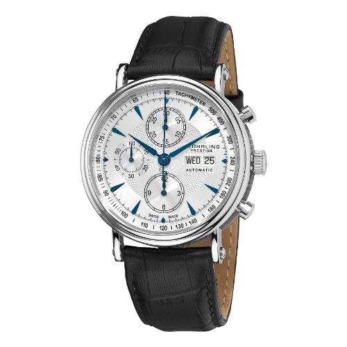 Stuhrling Prestige Men's 363.331K16 Prestige Swiss Made Automatic Valjoux 7750 Paradigm Chronograph Blue Watch