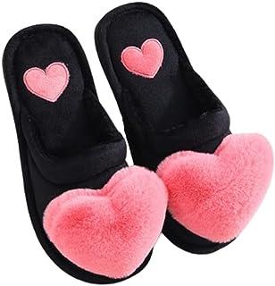 SalLady SalLady Women Slippers Cozy Nonslip Cute Fashion Warm Soft Flat Thick Winter Slides Slip on Slippers Woman