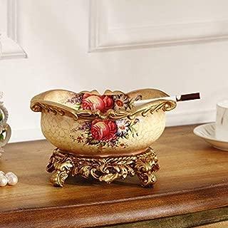 葉巻灰皿, 欧州の高級大型灰皿灰皿カバーファッションクリエイティブ人格リビングルーム表の装飾、B、カラー:F (Color : K)