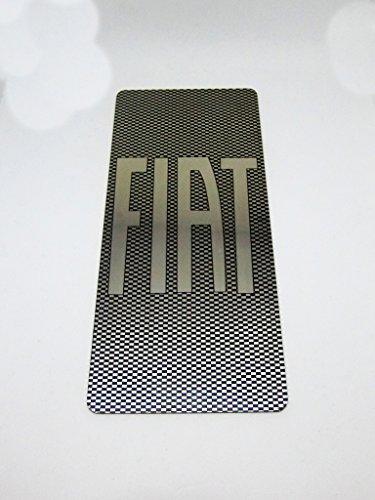 tuning pedana poggiapiede acciaio inox + stampa uv ultra violetti effetto carbonio 18 x 8 cm con kit velcro incluso fff