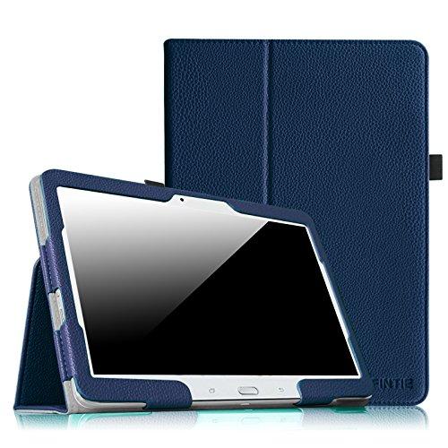 Fintie Hülle Hülle für Samsung Galaxy Tab 4 10.1 SM-T530 SM-T535 Tablet - Slim Fit Folio Kunstleder Schutzhülle Cover Tasche mit Auto Schlaf/Wach Funktion, Marineblau