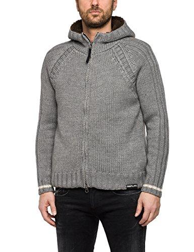 Replay Herren UK1615.000.G2897F Pullover, Grau (Grey Med Melange M04), Large