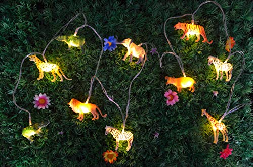 HOOLIGHT String Lights 10 LEDs The Small Animals String Lights Children Room Decoration Super Fun Lights Light for Boys Room Indoor String Lights Liven up The Room 6