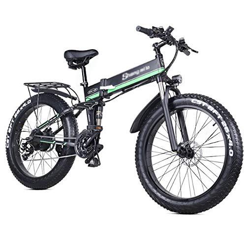 HARTI Bicicleta Eléctrica, Bicicleta De Montaña 1000W 48V Plegable con 26 *...