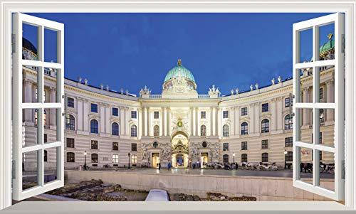 Chicbanners Viena V101 - Adhesivo decorativo para pared, diseño de la escuela de equitación española de Viena, tamaño 1000 mm de ancho x 600 mm de profundidad (tamaño grande)