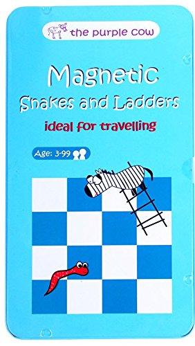 Purple Cow - Serpientes y escaleras, Juegos magnéticos de Viaje (PUTGSL)