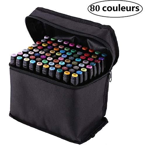 PetHot 80 Color un Set Arte Dibujo Touch Cinco Doble Amplia - Marcador...