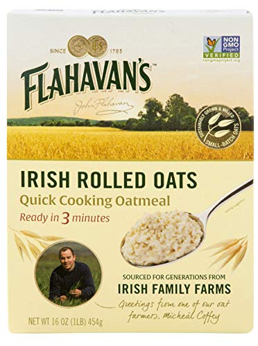 Flahavan's Quick Cooking Oatmeal 16 Pack of, irish rolled oats, 96 Ounce, (Pack of 6)