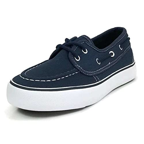 d6583352fb Boys Kids Classic Boat Canvas Slip-on Loafers