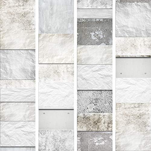 murando - PURO TAPETE - Realistische Steinoptik Vlies-Material Tapete ohne Rapport und Versatz 10m Vlies Tapetenrolle Wandtapete modern design Fototapete - ! Steine f-A-0215-j-a