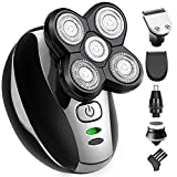 OriHea Electric Shaver for Men, 5 in 1 Shaver Trousers, 5D Floating Sword Head, Rotary Shaver Grooming Kit with Clipper Nose Hair Sideburns Trimmer Facial Clean