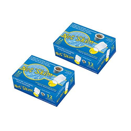 Toucan 24 NetSkim universeller Vorfilter für Skimmer, für Pools und Whirlpools, 2 x 12 Stück in der Box