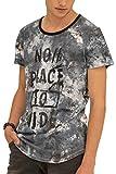 trueprodigy Casual Hombre Marca Camiseta con impresión Estampada Ropa Retro Vintage Rock Vestir Moda Cuello Redondo Manga Corta Slim fit Designer Fashion t-Shirt, Colores:Darknavy, Tamaño:XL