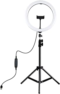 Honorall 11.8 inch Dimmable Led Photography Light with Tripod Light Stand & Mobile Phone Bracket Dimmable Led Fill Light f...