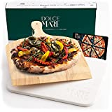 Dolce Mare® Pizza Stone - Piedra para Pizza de Cordierita Horno y la Parrilla - Ladrillo para Pizza...