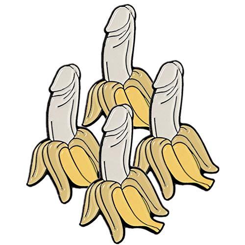 SOIMISS 1 Juego de 4 Piezas de Pin de Solapa de Esmalte de Plátano Favores de Despedida de Soltera Regalos Decoraciones de Fiesta de Despedida de Soltera (Colores Surtidos)