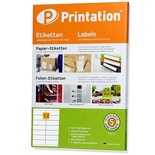 Printation 1558470-GP - Etiquetas adhesivas en A4