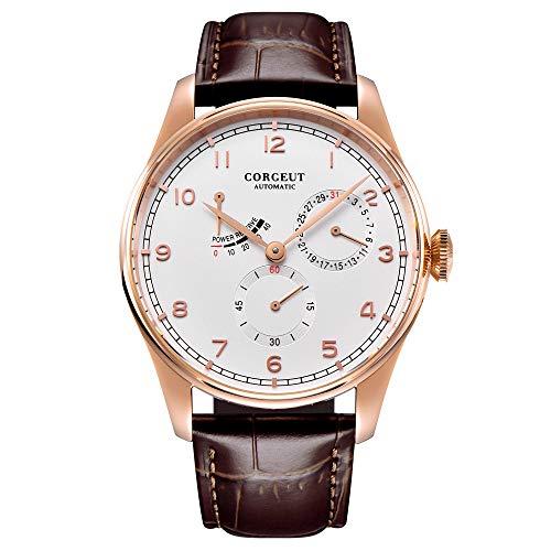 orologio cinetico Corgeut 42mm fashtion Mens automatico orologi da polso meccanici cinetici data di energia impermeabile 316L in acciaio inox orologio Digitale