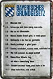Bayerisches Grundgesetz Bayern München 20x30 cm Blechschild 1247