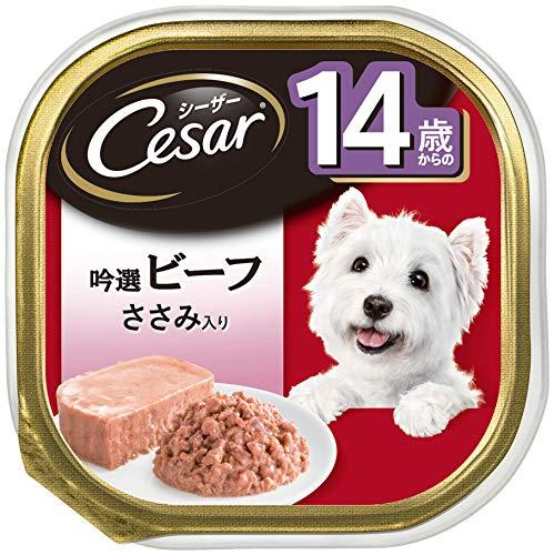 シーザードッグフード14歳からの吟選ビーフささみ入りシニア犬用100g×24個(まとめ買い)